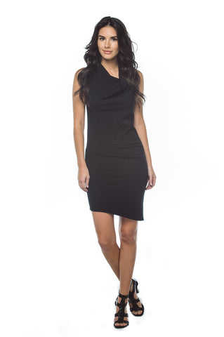 Women's Asymmetrical Draped Dress