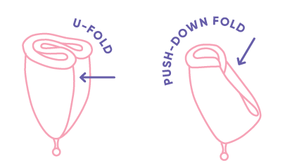 how to fold menstrual cup
