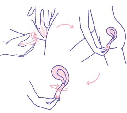 how to insert menstrual cup