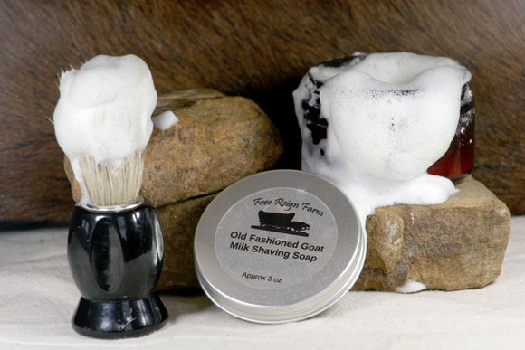 Goat Milk Shaving Soap - Cowboy (Sweet & Earthy) - 4 Pack