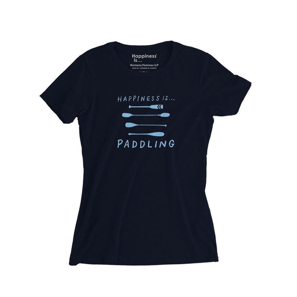 Women's Is Paddling T-Shirt, Navy
