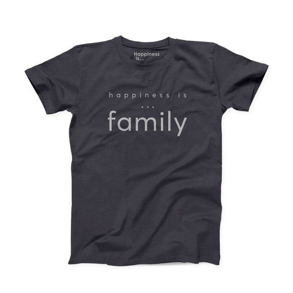 Men's Happiness IS Family T-Shirt - Vintage Black