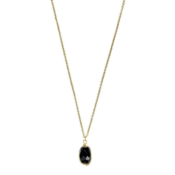 Black Quartz Pendant Necklace