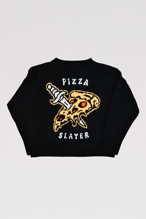 Pizza Slayer Sweater - Not Cotton