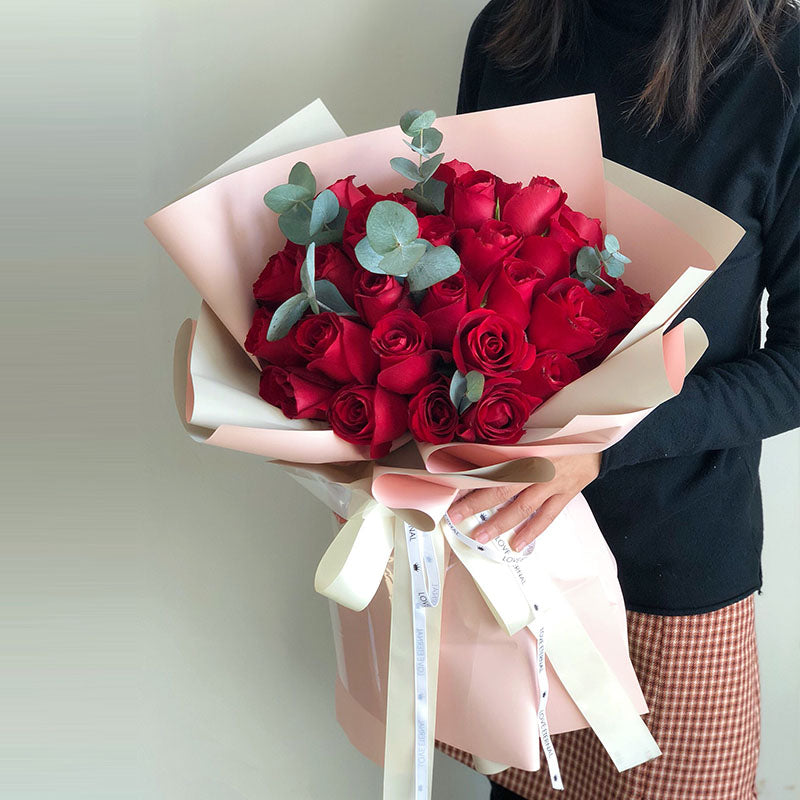 Only you in my heart 51 red roses