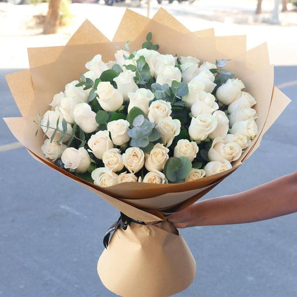 Only you in my heart 51 white roses