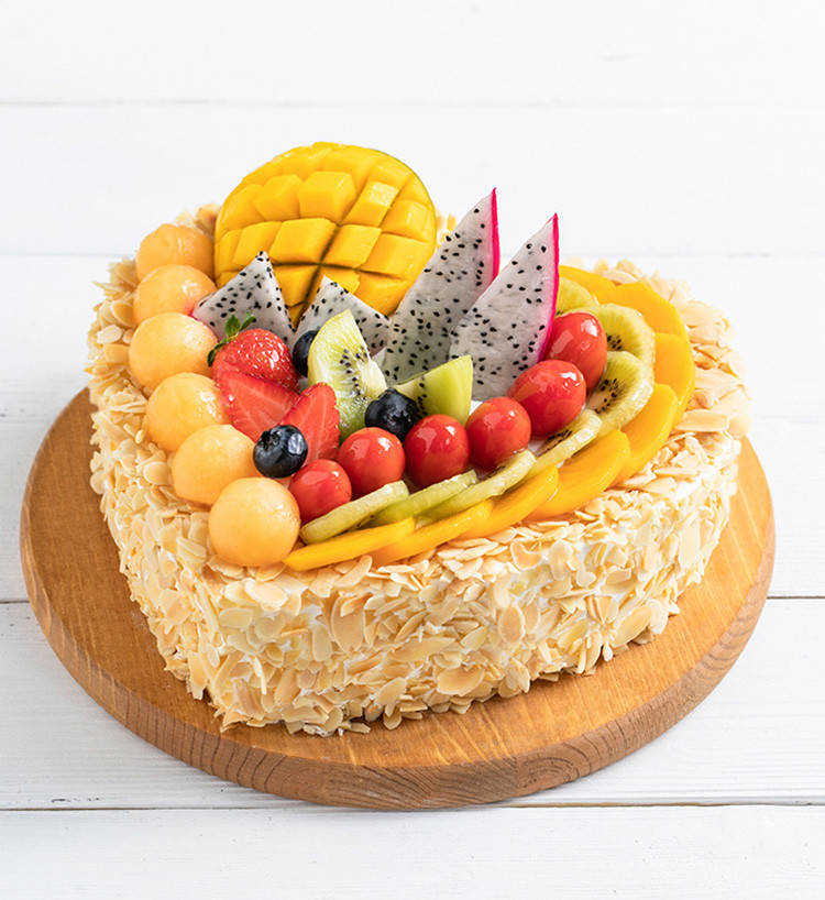 Whole-heartedly, Fresh fruit cake - China cake