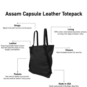 Assam Capsule Leather Totepack