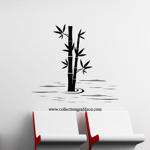 BAMBOO IN WATER - WALL STICKER
