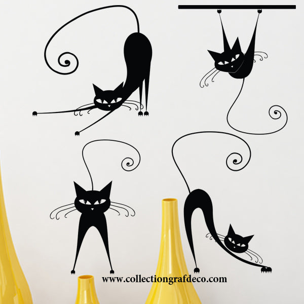 4 CATS - WALL DECALS