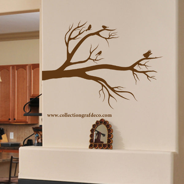 TREE BRANCH AND BIRDS - WALL STICKERS