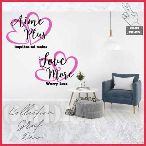 DUO Aime Plus | Love More - Digital EPS, DXF, SVG