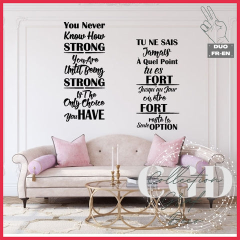 DUO : Tu ne sais jamais à quel point tu es fort  | You never how strong you are - Digital EPS, DXF, SVG, PNG, JPG