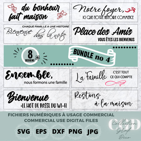 SVG Bundles - No 4 Farmhouse Sign designs, Sign Maker,  Quotes for stickers - EPS, DXF, SVG, PNG, JPG