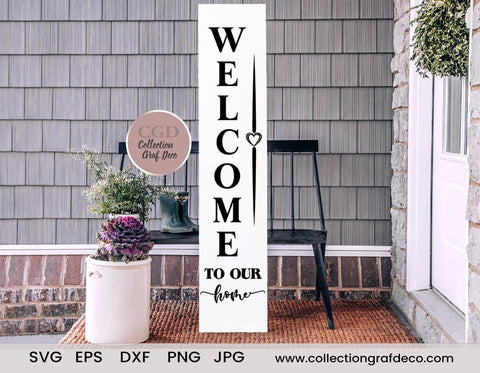 Welcome to our home - Digital Design - Vecteur EPS, DXF, SVG, PNG, JPG