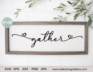 Gather - Scripture Digital Cut File - Vector EPS, DXF, SVG, PNG, JPG