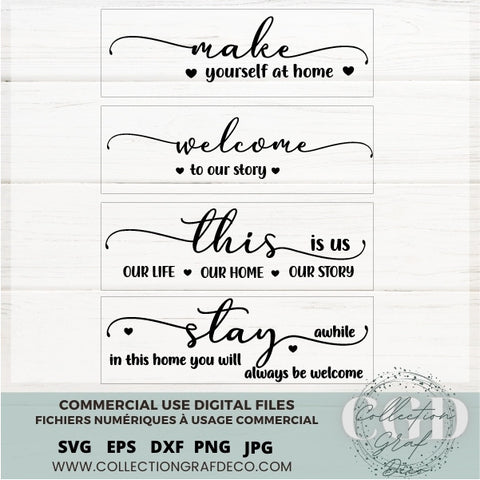 SVG Bundles - No 17 Farmhouse Sign designs, Sign Maker, Quotes for stickers - EPS, DXF, SVG, PNG, JPG