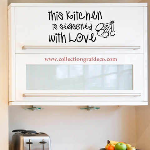 THIS KITCHEN IS SEASONED WITH LOVE - AUTOCOLLANTS MURAUX