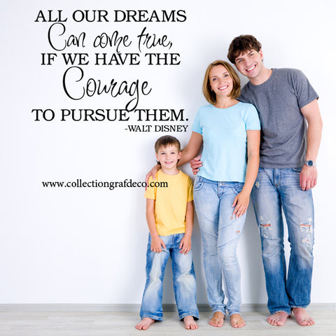 ALL OUR DREAMS CAN COME TRUE - LETTRAGES AUTOCOLLANTS MURAUX
