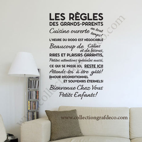 LES RÈGLES DES GRANDS-PARENTS V1.2 - STICKERS MURAUX