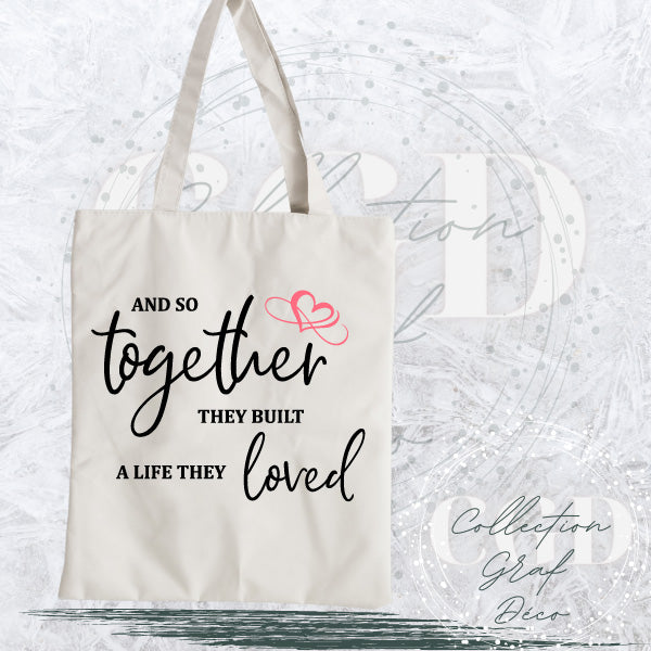 And so together they built a life they love - Digital EPS, DXF, SVG, PNG, JPG