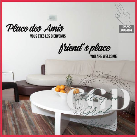 DUO : Place des amis, vous êtes les bienvenus | Friend's place you are welcome - Digital EPS, DXF, SVG, PNG, JPG