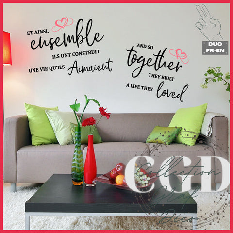 DUO : Et ainsi ensemble ils ont construit une vie | And so together they built a life - Digital EPS, DXF, SVG, PNG, JPG