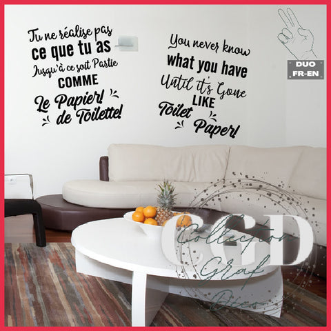 DUO : Tu ne réalise pas ce que tu as | You never know what you have - Digital EPS, DXF, SVG, PNG, JPG