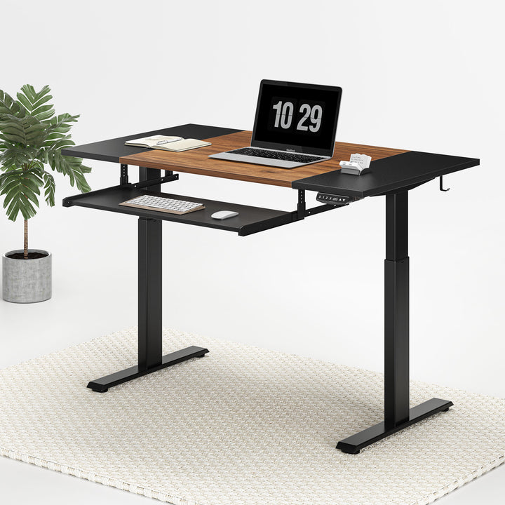 FEZIBO Dual Motor Standing Desk with Keyboard Tray