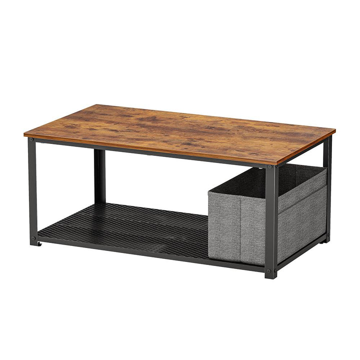 CubiCubi Coffee Table with Storage Shelf