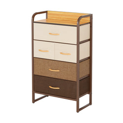 CubiCubi Storage Tower Steel Frame with 5 Drawers