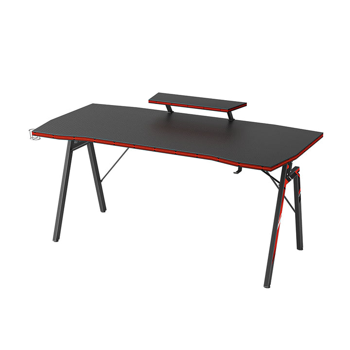 DESINO N-Leg Gaming Desk with Cup Holder and Headphone Hook