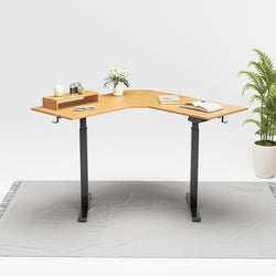 FEZIBO Dual Motor L-Shaped Standing Desk