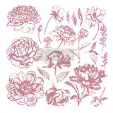 Redesign with Prima Clearly Aligned Decor Stamp - Linear Floral
