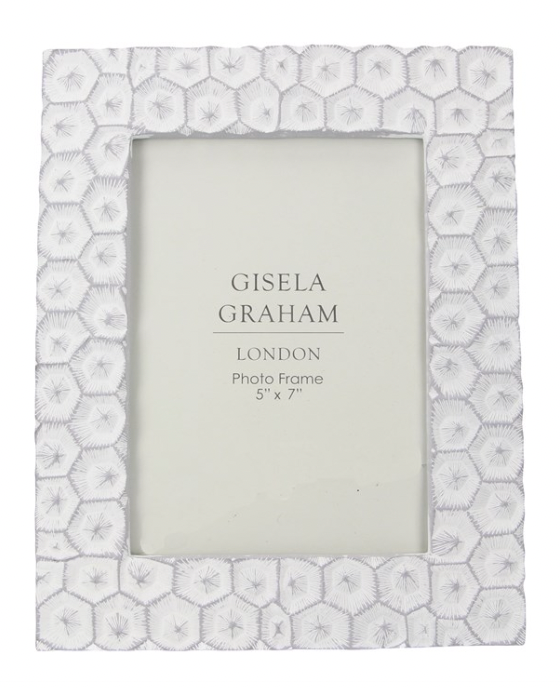 Resin Photo Frame (5x7) - Grey/White Crater Effect