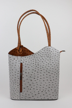 Load image into Gallery viewer, Leather Back pack - Ostrich - Duo Tone - various colours - Little Gems Interiors