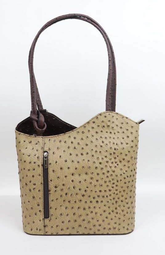 Leather Back pack - Ostrich - Duo Tone - various colours - Little Gems Interiors