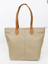 Load image into Gallery viewer, Leather Shoulder/Holdall Bag - Duo Tone - various colours - Little Gems Interiors