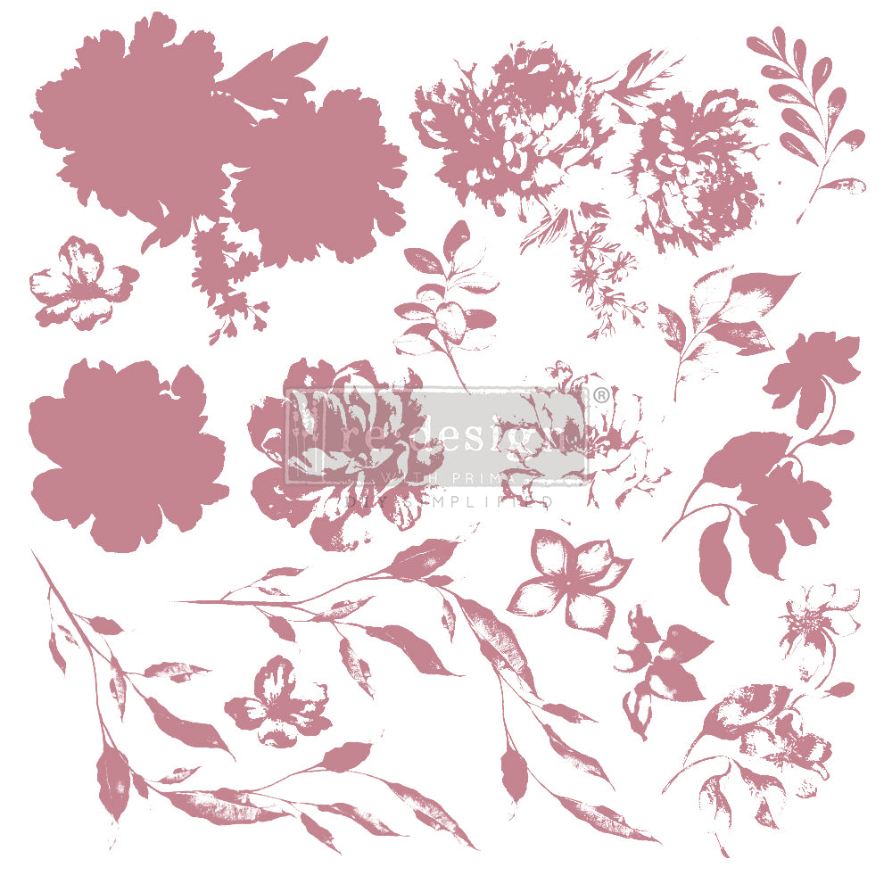 Redesign Decor Clear-Cling Stamps - Sweet Blossoms - 12x12