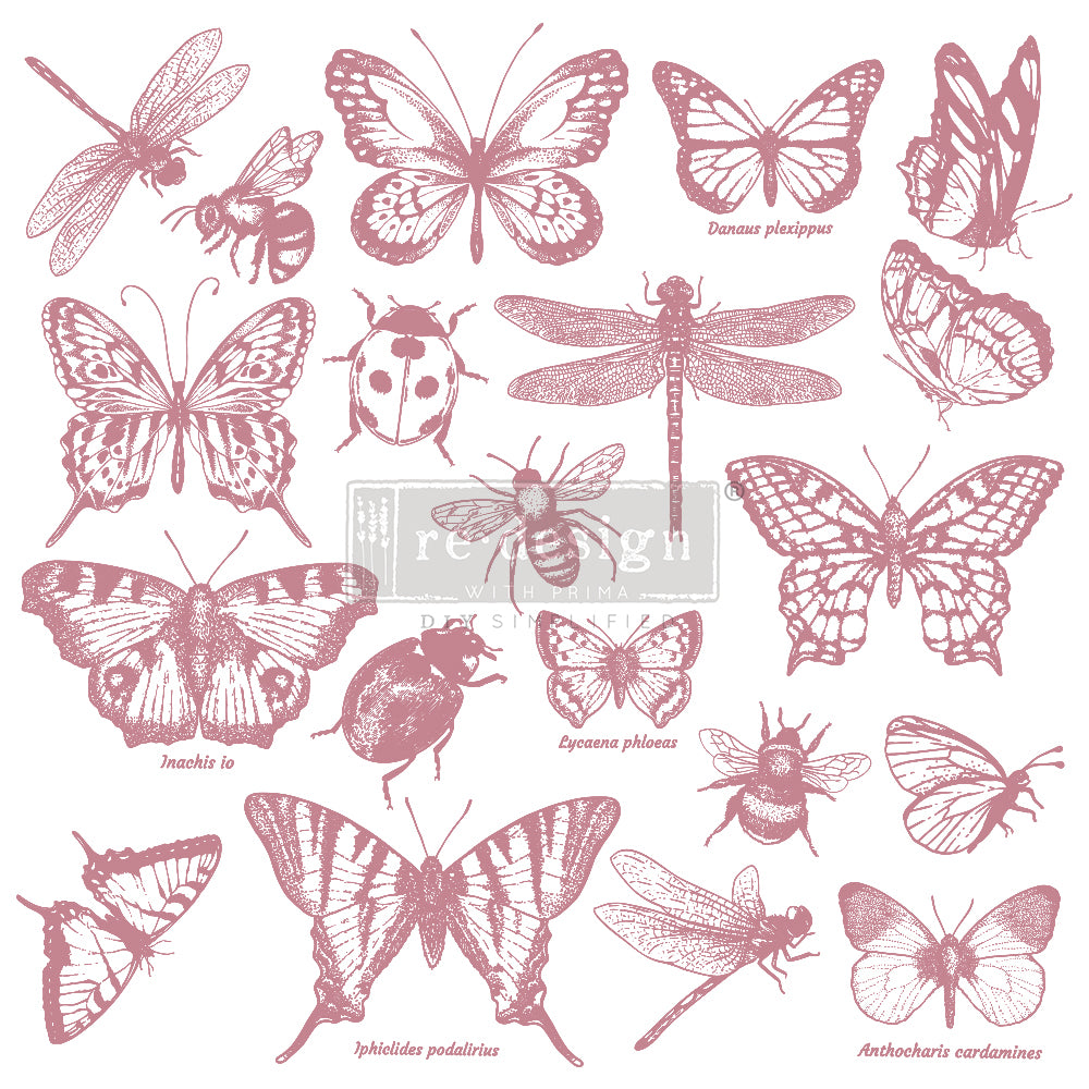 Redesign Decor Clear-Cling Stamps - Monarch Collection - 12x12