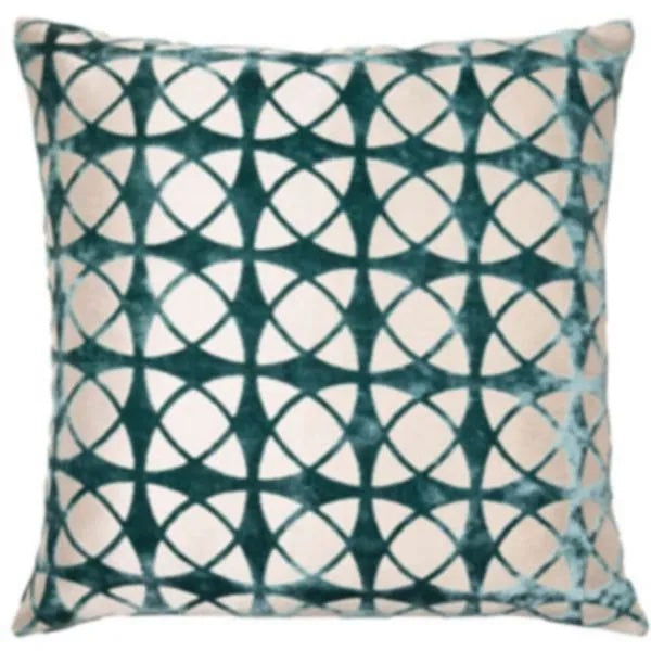 Spiral Teal Cushion