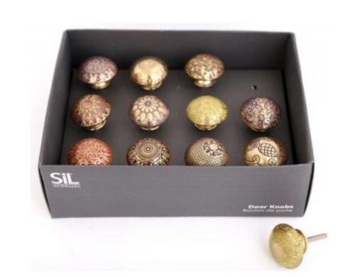 Brass Door Knobs - Assorted colours - Little Gems Interiors