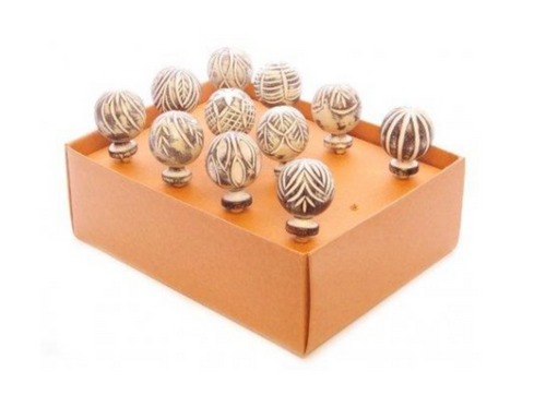 Carved Mango Wood Door Knobs - Little Gems Interiors