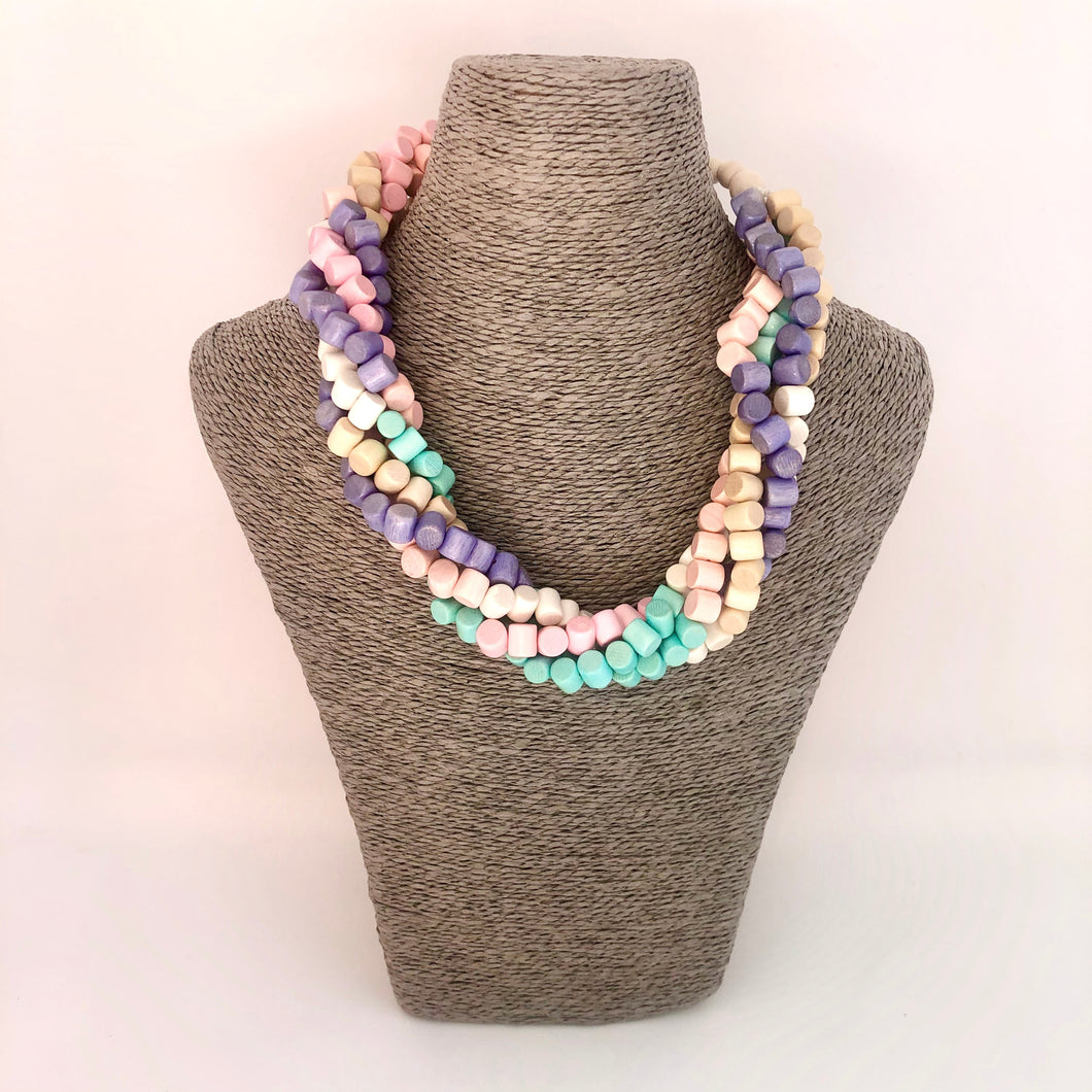 Pastel Bead Twist Necklace - Little Gems Interiors