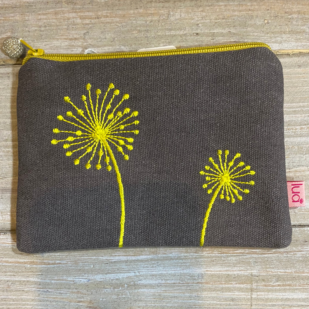 LUA Embroidered Dandelion Coin Purse