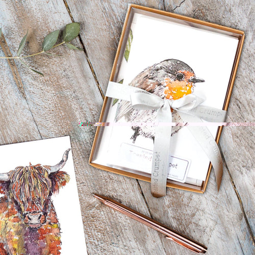 Autumn to Winter   Boxed set of 8 notecards - Little Gems Interiors