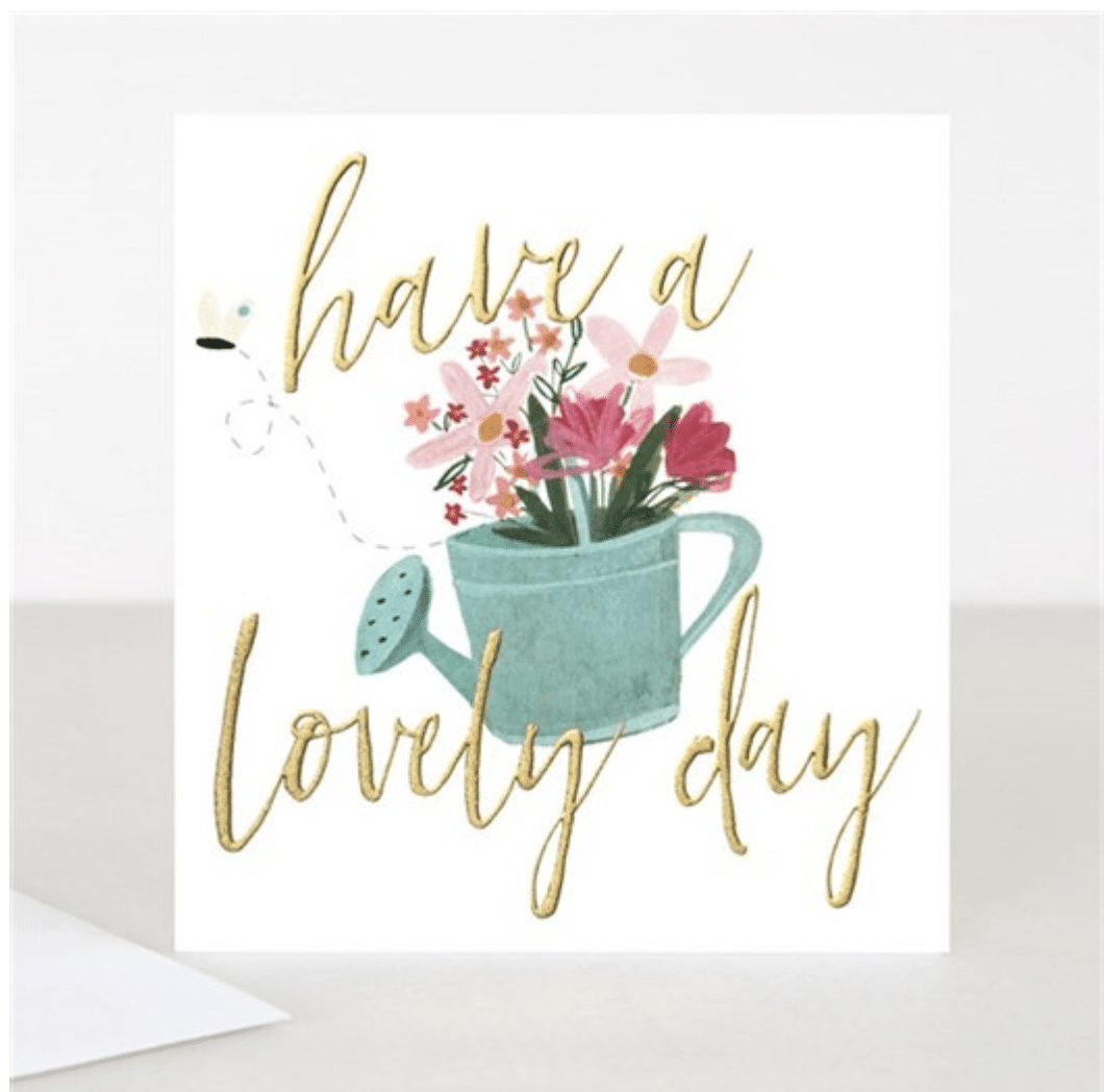 Watering Can Birthday Card - Little Gems Interiors