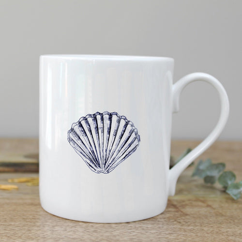 Scallop Shell Mug - Little Gems Interiors