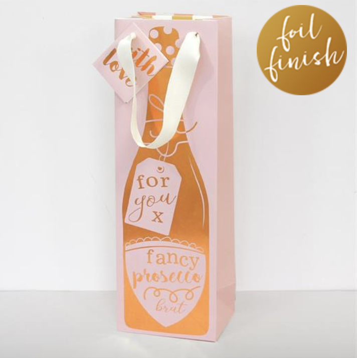 Cameo Prosecco Bottle Gift Bag