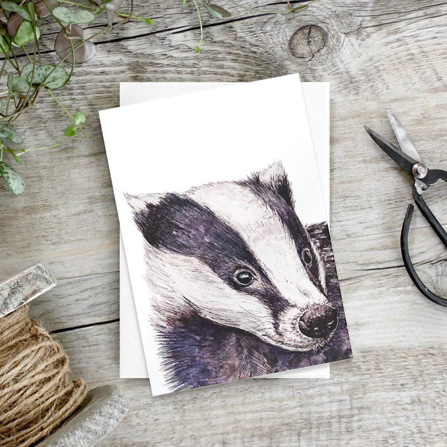 Badger – set of 6 notecards - Little Gems Interiors